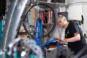Carbon Bike Wheel Building at Eddie Mcgraths Cycles in Manchester