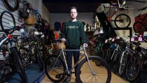 Editorial photography at Eddie Mcgrath Bike shop, Manchester