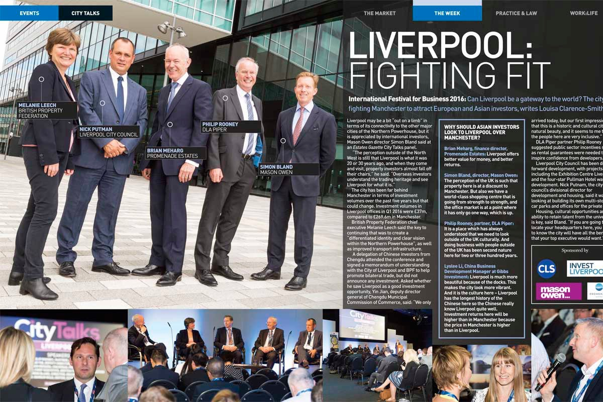 Editorial photography for Estates Gazette in Liverpool