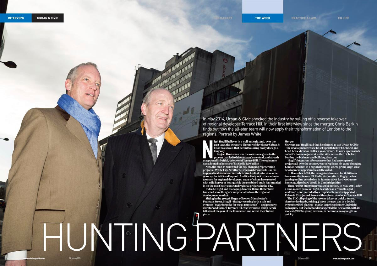 Editorial photograph of Nigel Hughill and Phillip Leech from Urban and Civic
