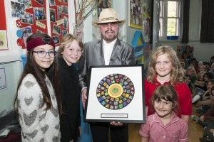 Manchester Event Photographer photographed Barry Gibb at his old school