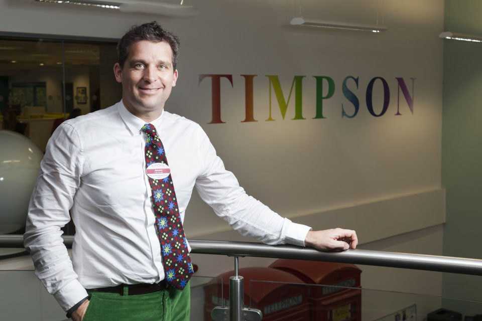 James Timpson photographed by Manchester editorial photographer James White for Estates Gazette