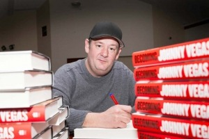 Johnny Vegas visits Urmston, Manchester for new book launch