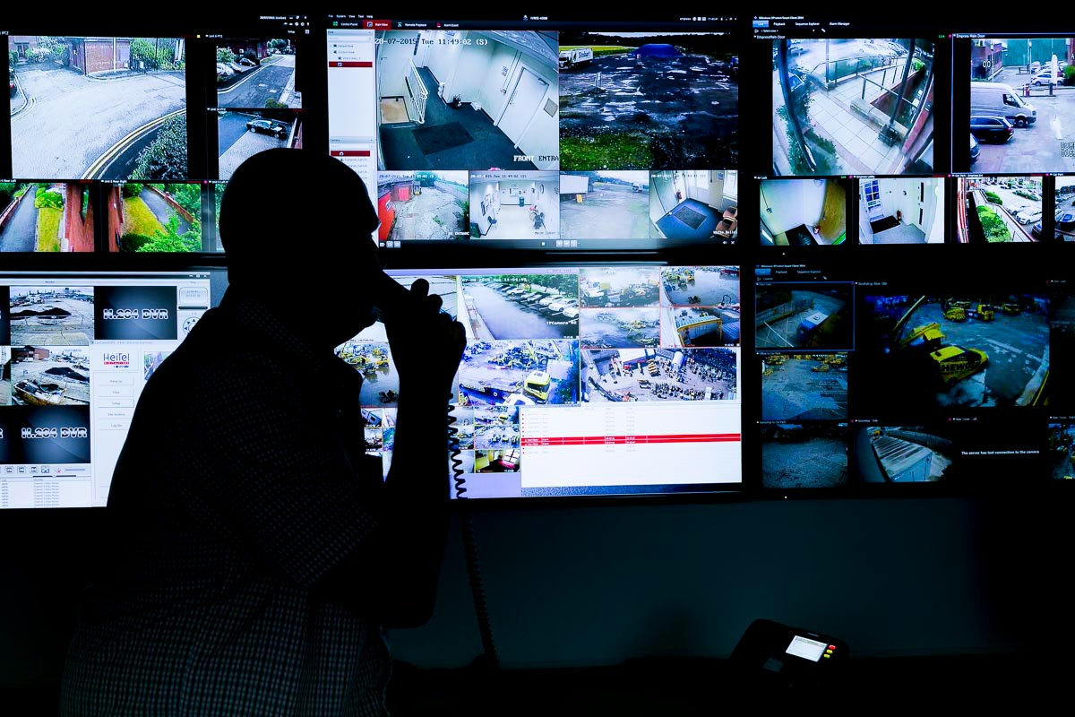 Industrial Photographer james White commissioned by Empress Connect to capture their CCTV monitoring room