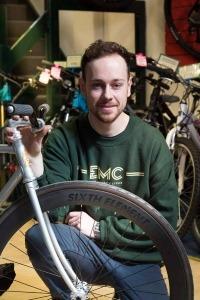 Portrait photography at Eddie Mcgrath Cycle Shop