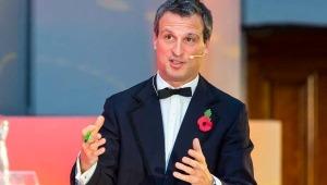Richard Westcott, BBC travel corespondent, hosting Transcity Rail Conference, Manchester