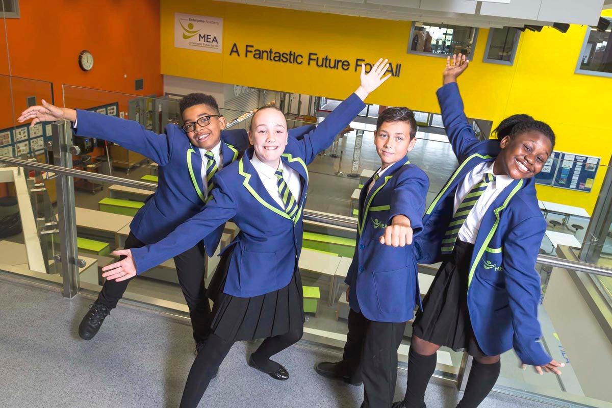 School Prospectus Photography for Manchester Enterprise Accademy