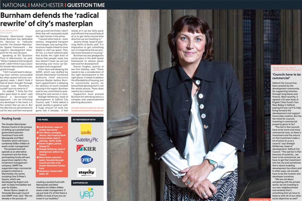 Editorial photograph of Shelagh McNerney, head of development, Salford City Council